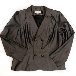 Calvin Klein Black Gray Blazer Womens Size 16